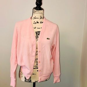 Vintage The Lacoste Club Pink Cardigan